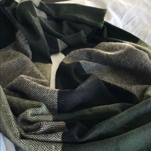 Black, Olive Green and Taupe Sole Society Scarf
